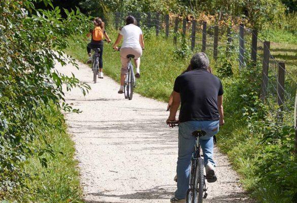Radfahrer am Aischtalradweg