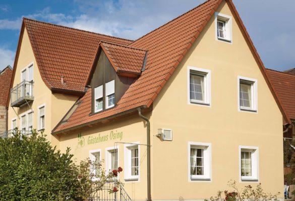 Außenansicht vom Gästehaus Osing in Herbolzheim