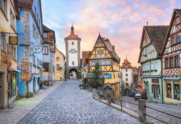 Ansicht der Altstadt von Rothenburg ob der Tauber
